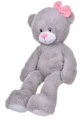 toy teddy bear with pink bow