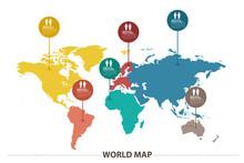 "Постер, картина, фотообои ""map infographic"""