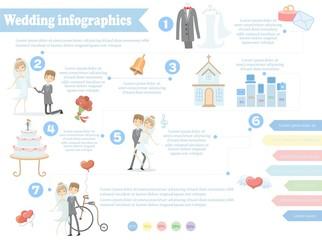 Свадебные инфографика, в том числе элементы дизайна шаблон