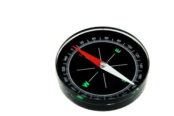 Modern New Black Magnetic Compass Isolated