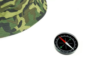 Military Сap and Compass Isolated