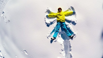 Snow angel slow motion