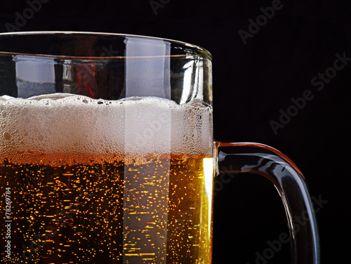 Foto op Canvas Bier / Cider A mug of light beer.