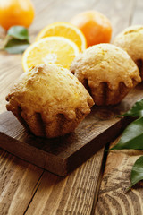 Homemade orange muffins