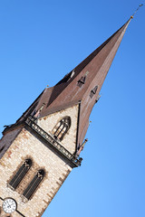 Kirchturm der Neustadtkirche St. Johannes Baptist, Warburg