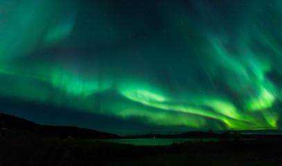 Aurora across nightsky
