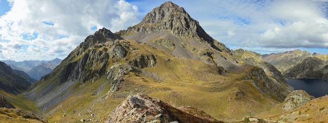 Mountain peak d'Arrious in the Atlantic Pyrenees, Bearn