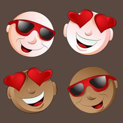 Happy Emoji Face Set