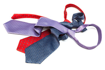 three tie knotted