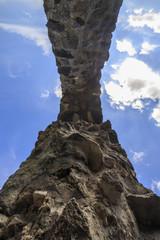 inside stone arch