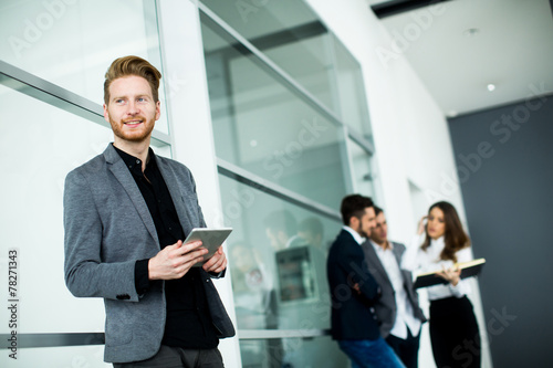 canvas print picture Young people in the office