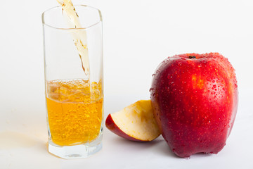 apple juice and red rich apple