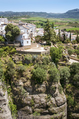 Old town of Ronda on a hill in the region of Andalusia Spain, Ma