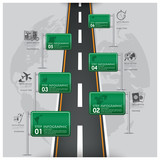 Road And Street Traffic Sign Business Travel Infographic - 78272377