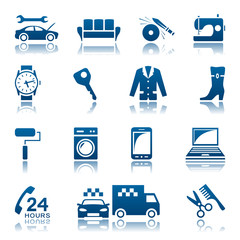 Service and repair icon set