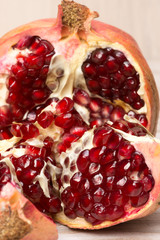 pomegranate fruits and grains