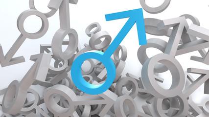 Symbol für Männlichkeit