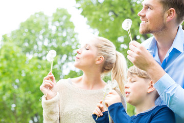 Familie mit Pusteblume