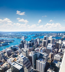 View of downtown towards Sydney Tower, Australia.