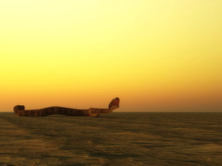 Snake trying to bite - 3D render