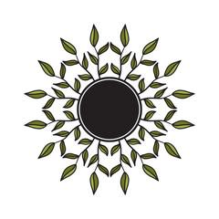 Tribal floral wreath
