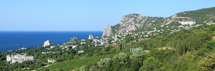 Panorama of Simeiz settlement in Crimea