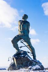 The monument to Musa Dzhalil, poet, hero of the Soviet Union. Ka