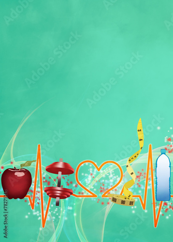Healthy living background - 78275143