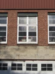 Fenster einer ehemaligen Textilfabrik in Bielefeld Sudbrack