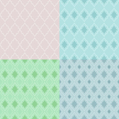 Set of 4 seamless geometric vector patterns.