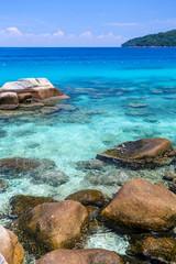 Plage sur les iles Perhentian