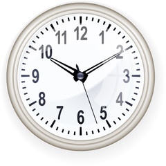 Office clock detailed vector illustration.