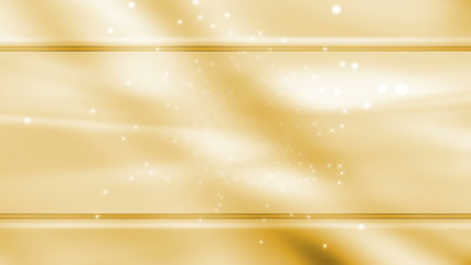 White Particles on Template style Yellow looping background