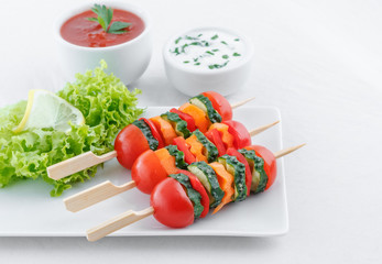 Vegetarian appetizer with dips