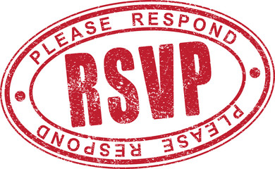 RSVP rubber stamp.