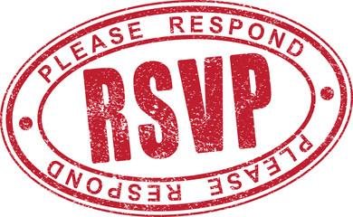 RSVP rubber stamp.