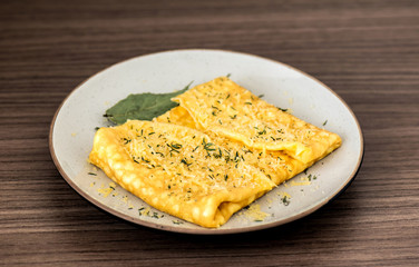 Omelette with parmesan cheese