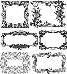 Set of 6 massive vector frames