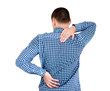 Young man having back pain