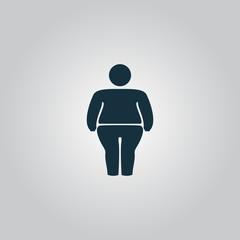 Overweight man symbol