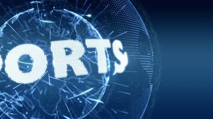 World News Sport Sports  Intro Teaser blue