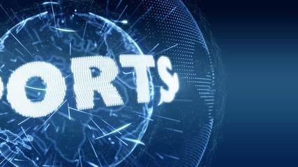 World News Sport Sports  Intro Teaser blue