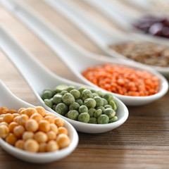Beans, peas and lentils