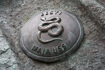 Emblem - a symbol of Estonia - grass snake
