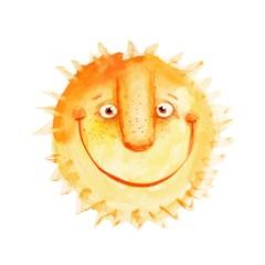 The sun. Vector