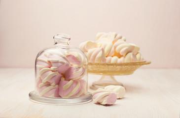 marshmallow in a beautiful glass dish