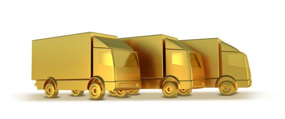 LKW Gold freigestellt