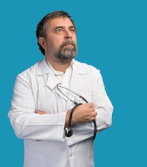 doctor in a white coat