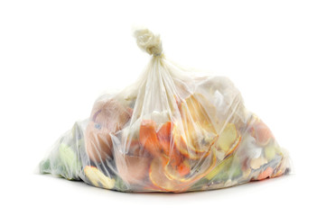 biodegradable waste in a biodegradable bag