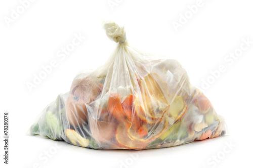 Zdjęcia biodegradable waste in a biodegradable bag